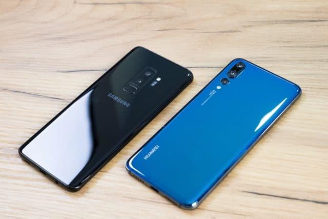 Samsung Huawei kämpfen um die Spitze im Smartphonemarkt