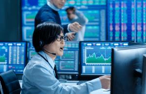 China Anleihen: Händlerin in Shanghai
