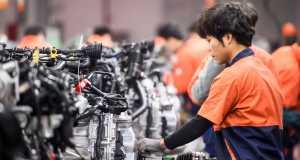 China car market: Geely car plant in Linhai. Source: Jenson/ Shutterstock.com