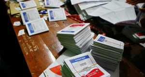 Indonesien Wahlen Stimmzettel