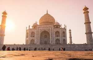 Indian economy: What investors should know. Taj Mahal in Agra, symbol of India.