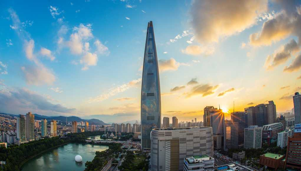 Südkorea Wirtschaft: Lotto World Tower in Seoul