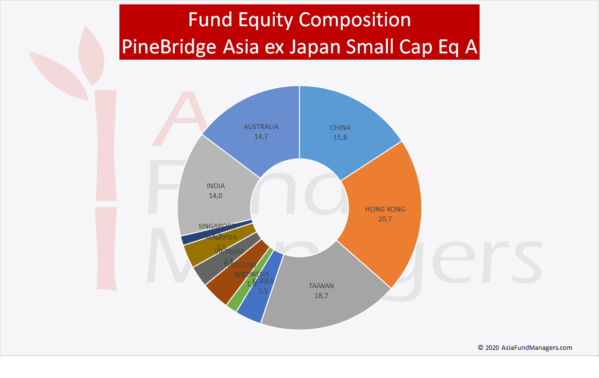 Asia Small Caps- PineBridge Asia ex Japan Small Cap Eq A - Equity Composition