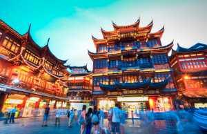 Shanghai Yu Garden pedestrian street, China