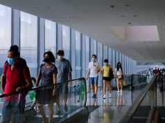 Singapore airport, less Asian airlines landing due to coronavirus