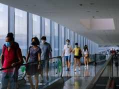 Flughafen Singapur, weniger asiatische Fluggesellschaften landen aufgrund des Coronavirus