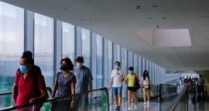 Singapore airport, less Asian airlines landing due to coronavirus