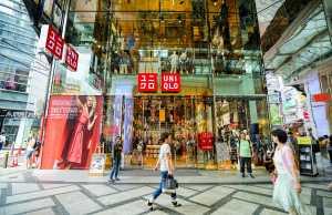 Store of Japanese retailer Uniqlo in Osaka
