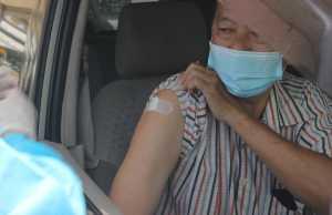 Asia Covid vaccines, drive thru in Indonesia